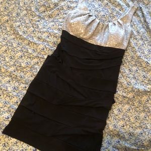 Black and silver dress